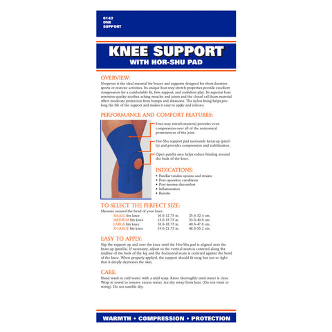 Rear packaging of NEOPRENE KNEE SLEEVE-HOR SHU PAD