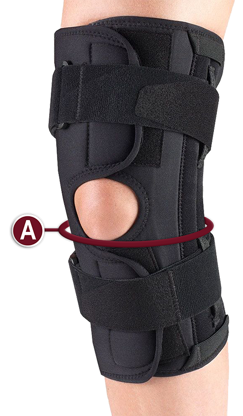 KNEE STABILIZER WRAP MEASUREMENT LOCATION