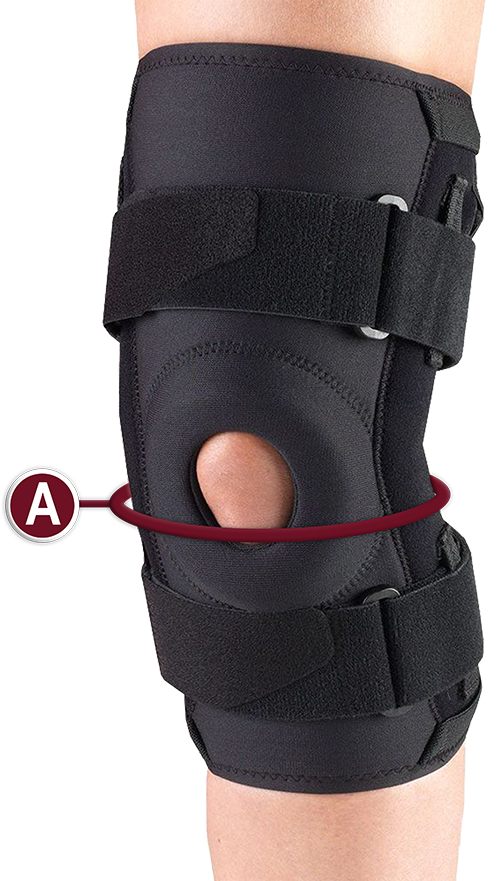 KNEE STABILIZER MEASURING LOCATION