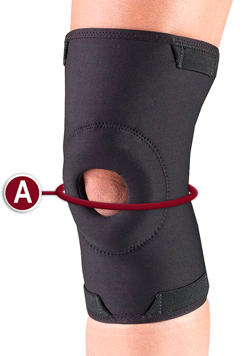 KNEE SUPPORT MEASUREMENT LOCATION