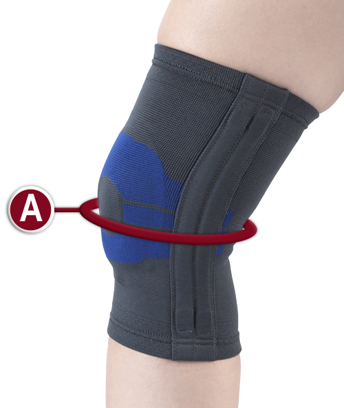 KNEE SUPPORT MEASURING LOCATION