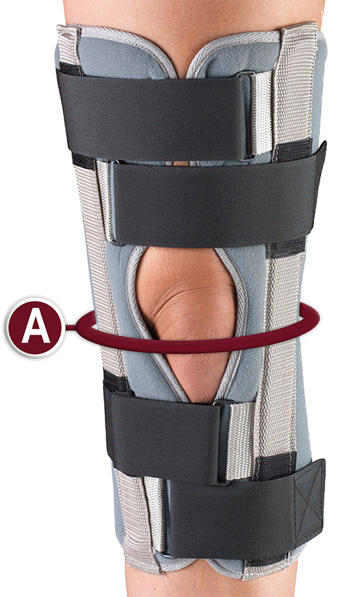 KNEE IMMOBILIZER MEASUREMENT LOCATION