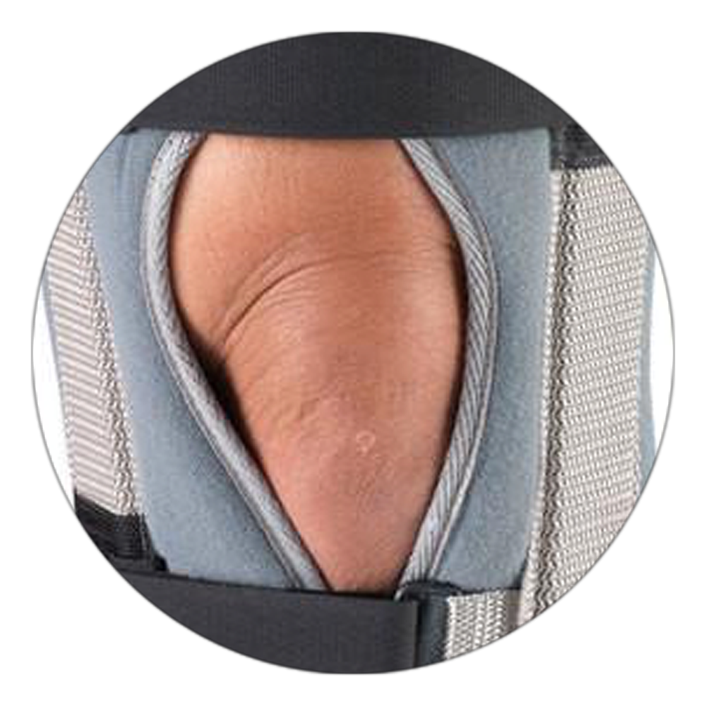 OPEN PETALLA OF KNEE IMMOBILIZER