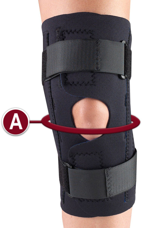KNEE WRAP MEASUREMENT LOCATION