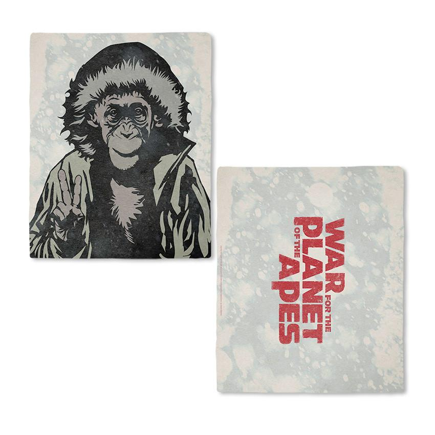 War for the Planet of the Apes Bad Ape Fleece Blanket