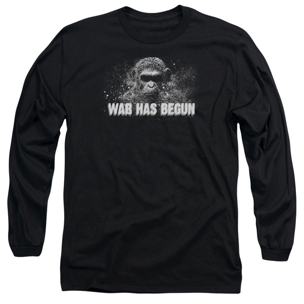 War for the Planet of the Apes War Has Begun Adult  Black T-Shirt