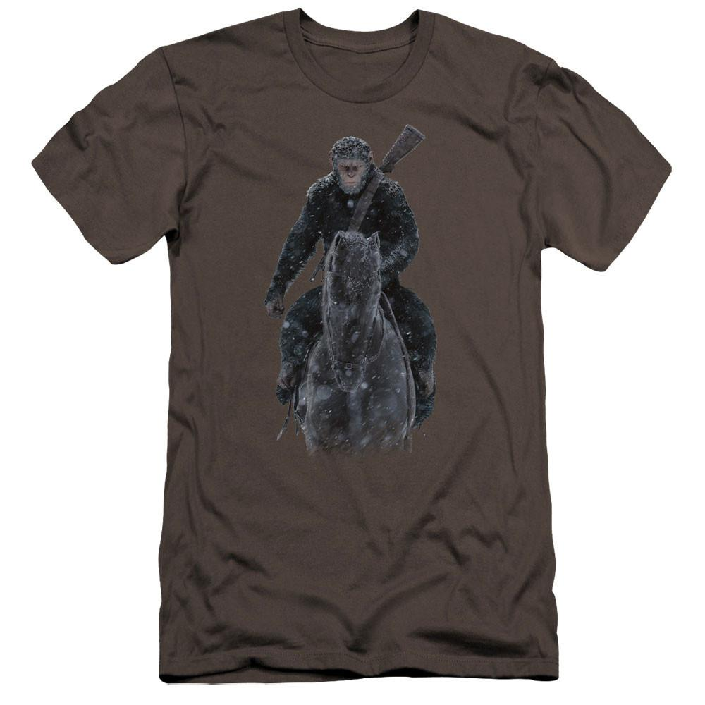 War for the Planet of the Apes Teaser Poster Adult Charcoal T-Shirt