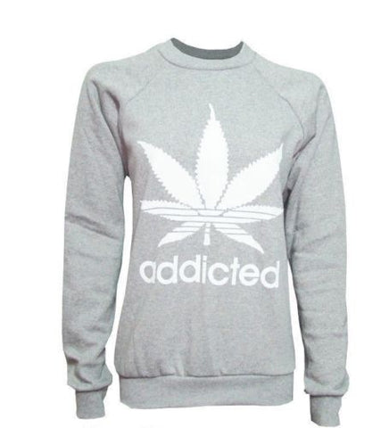 Women's Addicted Tracksuit Set Top & Bottoms Grey