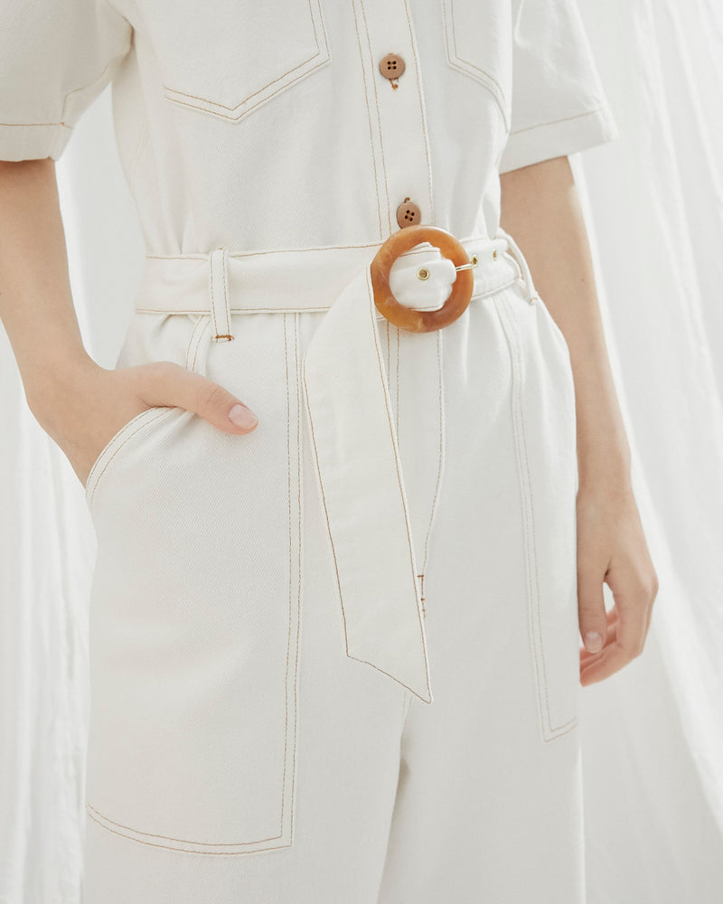 Arlo Jumpsuit White