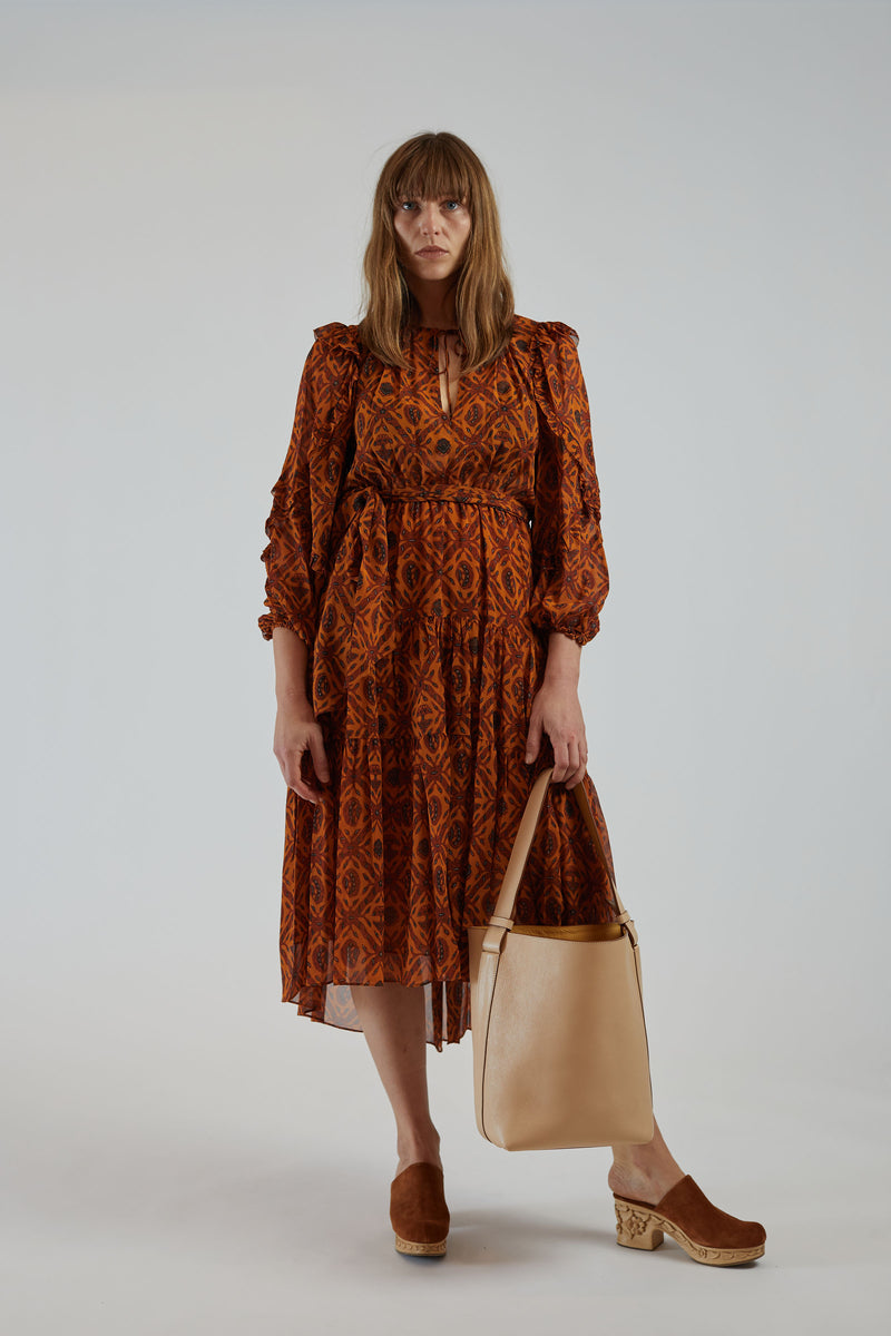 Aliya Dress Ochre