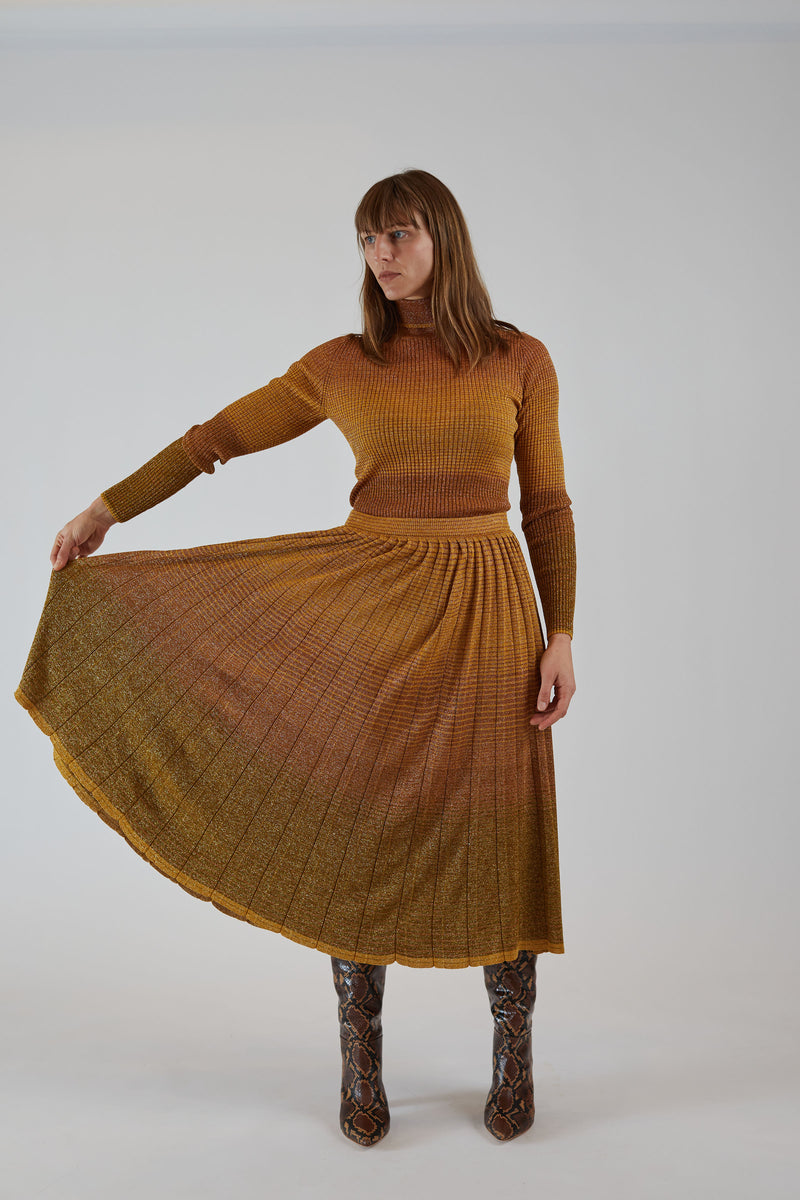 Billie Skirt Gold