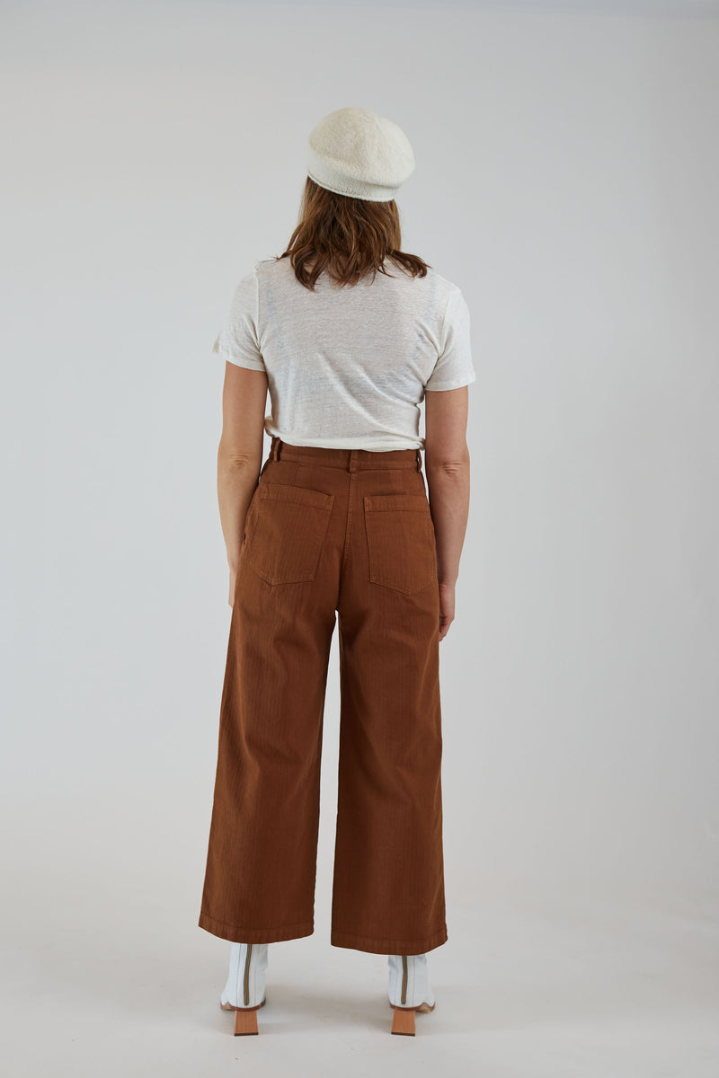 Cargo Trouser Ginger Herringbone
