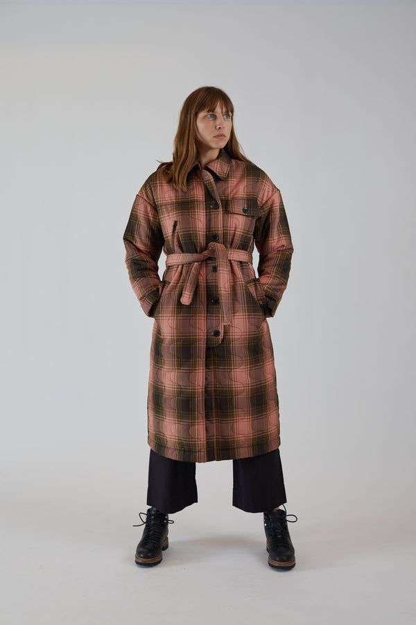 Era Coat Pink Bottiglia Check