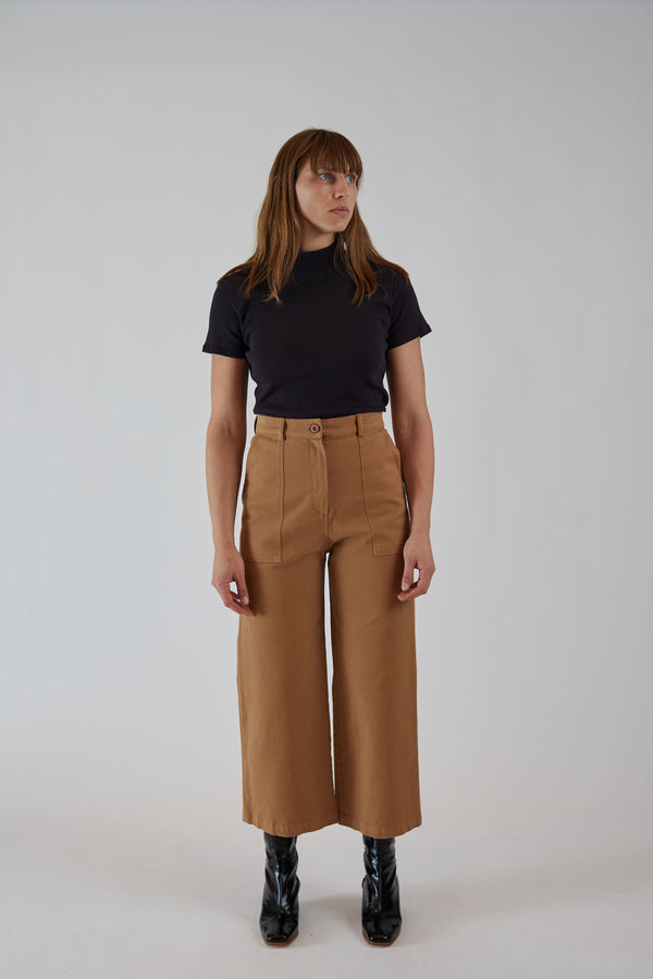 Cargo Trouser Camel Twill