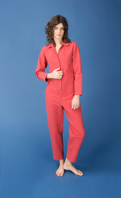 Tia Coverall Cherry