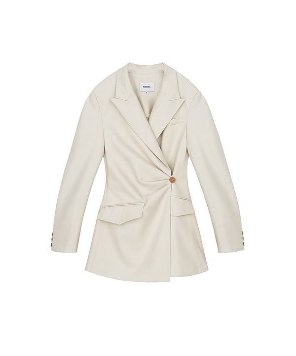 Blair Fitted Blazer Off White