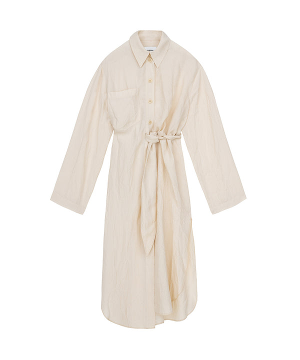 Mona Shirt Dress Creme
