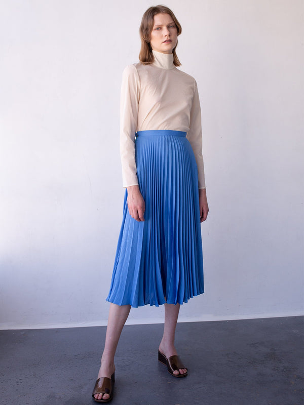 Aster Skirt Antique Blue Satin