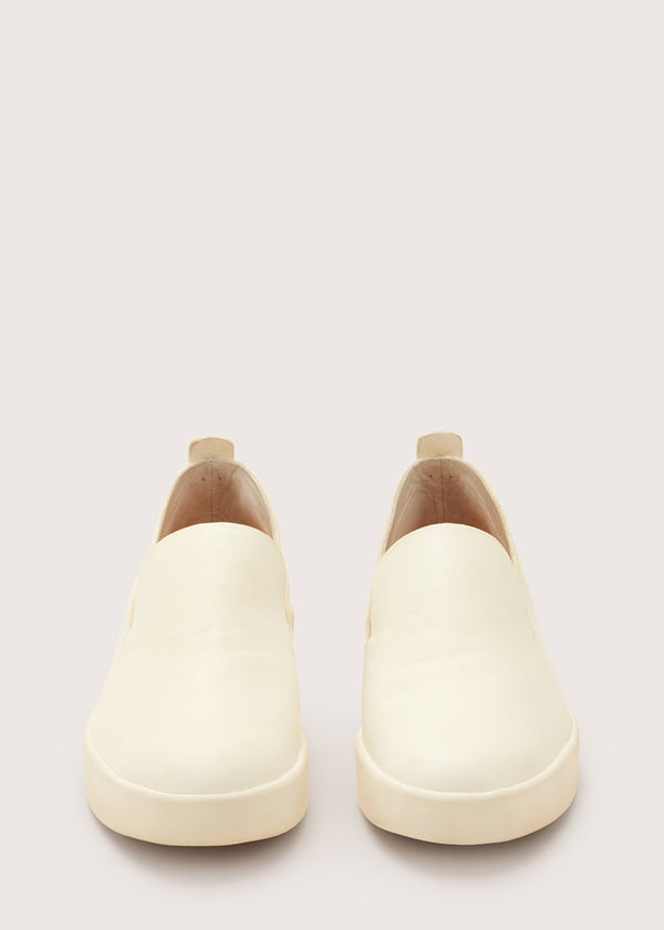 Hand Sewn Slipper Latex White