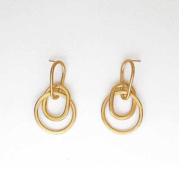 Sidewalk Earrings Gold
