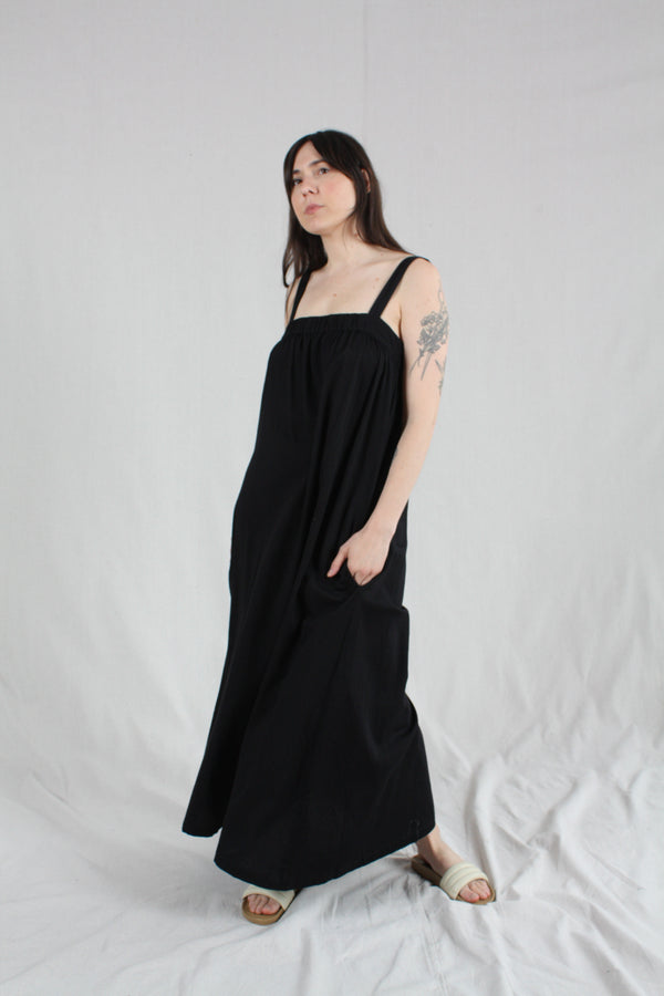 Column Dress Black