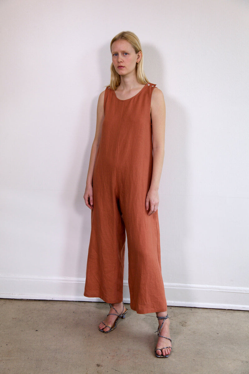 Big Mac Jumpsuit Clay Linen