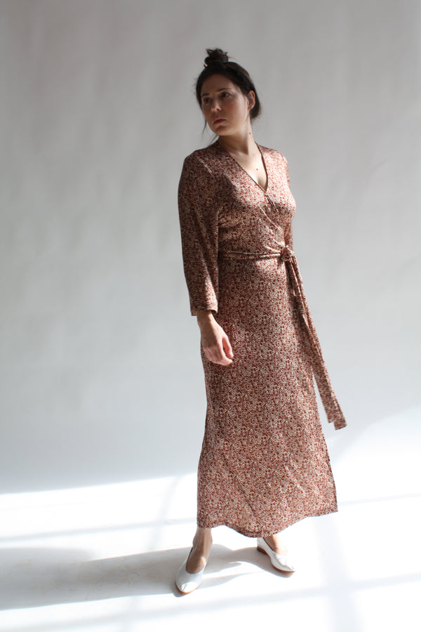 Sylvette Dress Raw Umbra Swirl
