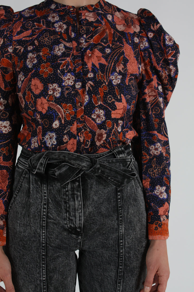 Willa Top Midnight Floral