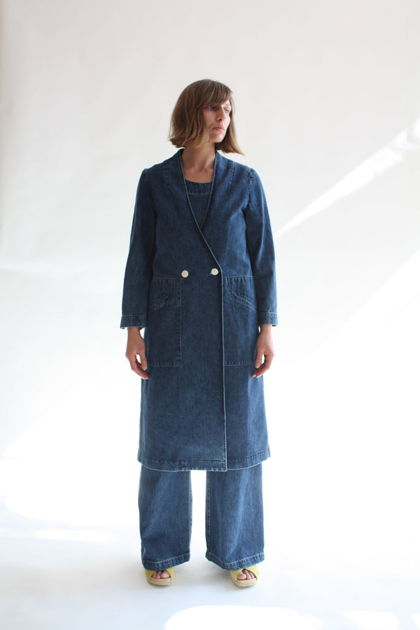 Birdie Duster Pacific Blue Denim