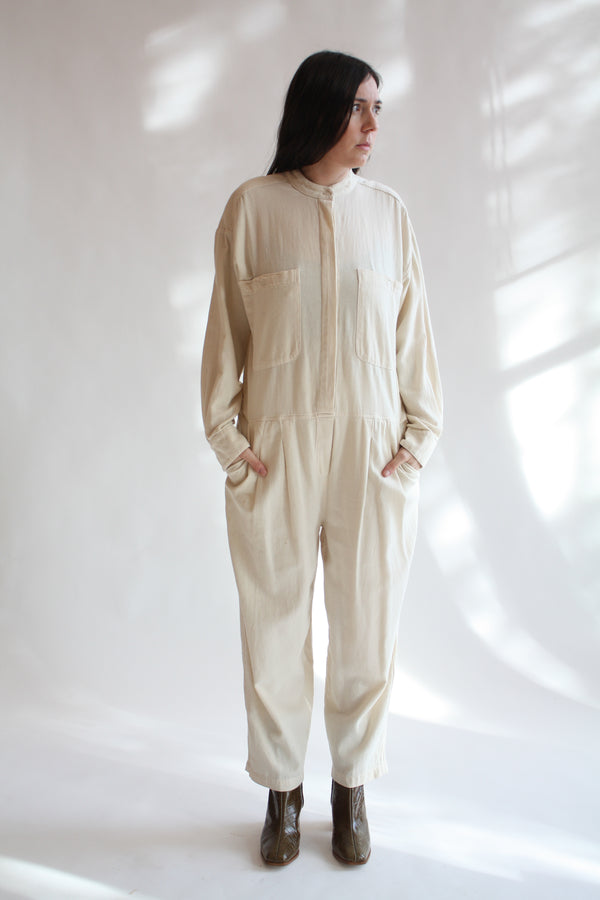 Carpenter Jumpsuit Cream