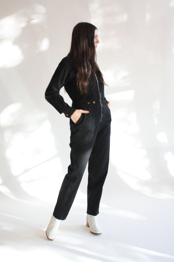 Utility Jumpsuit Washed Black