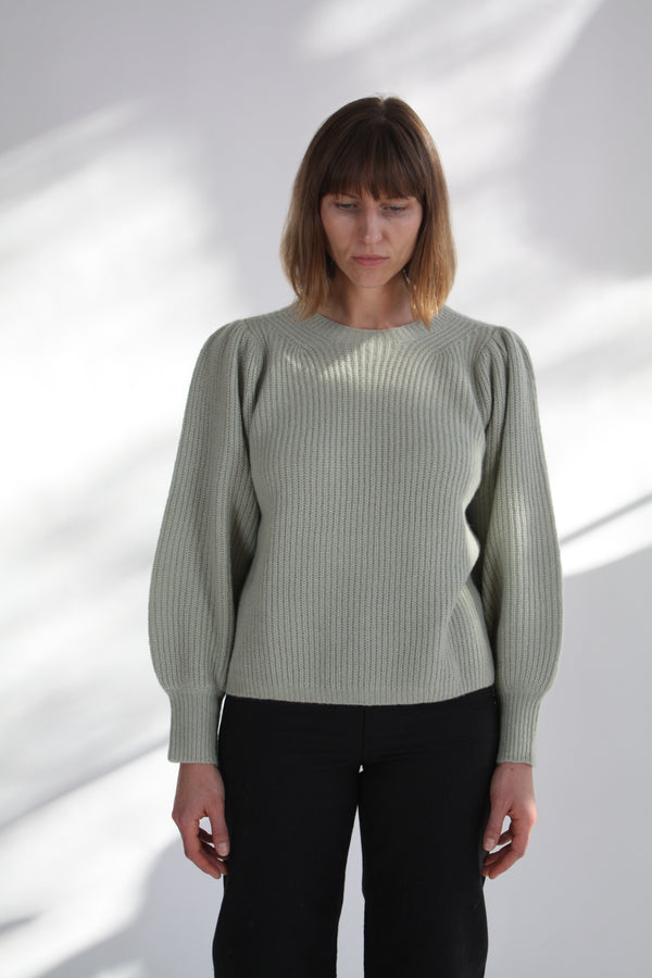 Arne Puff Sleeve Sweater Mint