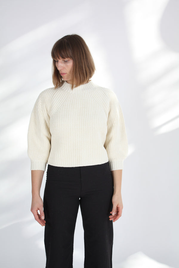 Merel Funnel Neck Sweater Cream