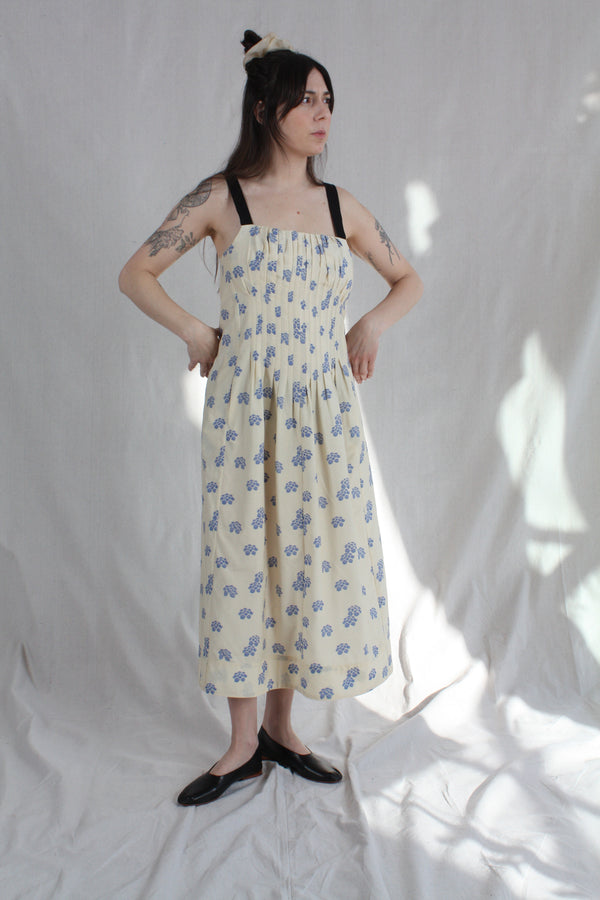 Virginia Dress Shibori Silk Cotton