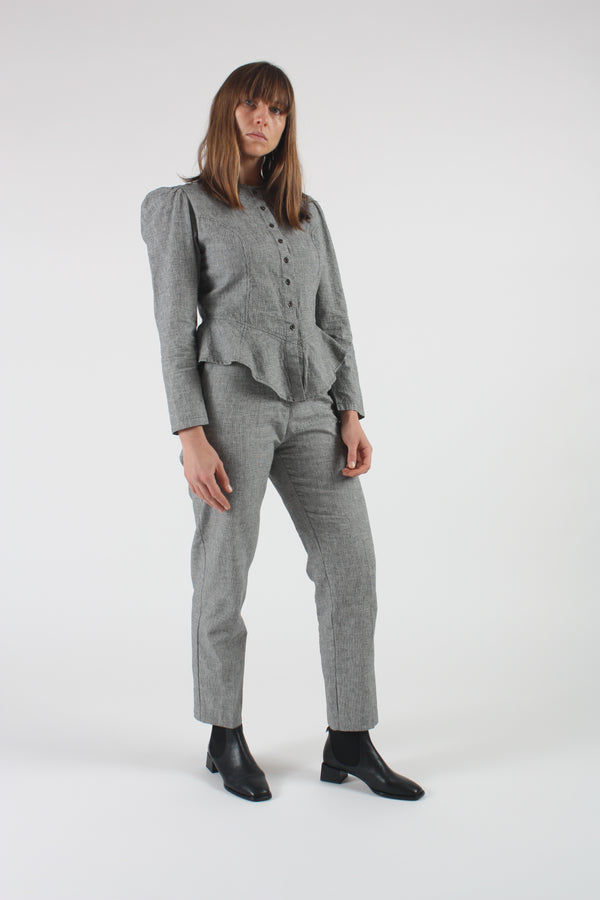 Garvanza Pant Onyx Houndstooth