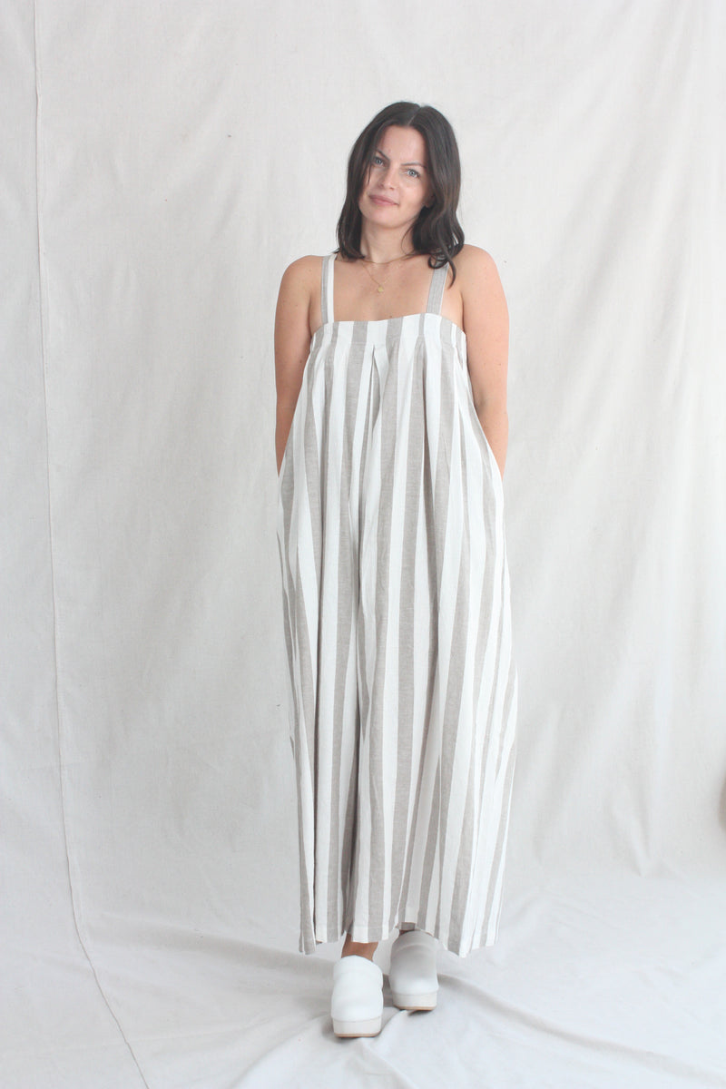 Loose Pullover Camel Cotton/Linen