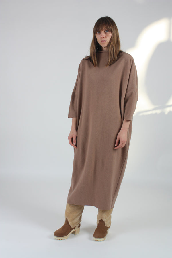 Puff Dress Camel Wool