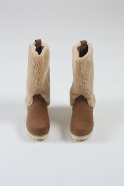Alpha Shearling Boot on Mid Tread Honey