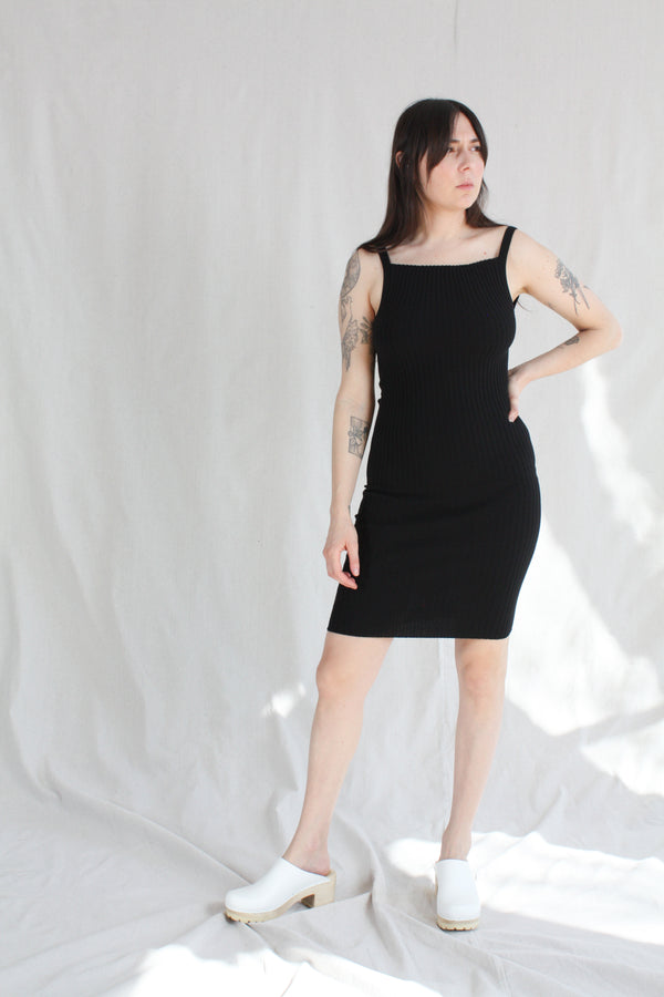 Nonna Slip Dress Onyx
