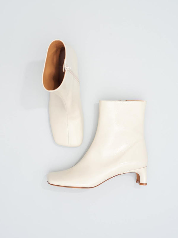 Monica Boot Crema Crinkle Patent