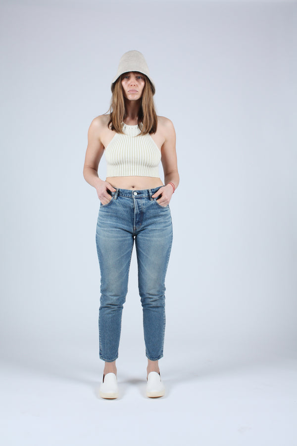 MV Kepner Tapered High-Waisted Jeans Blue