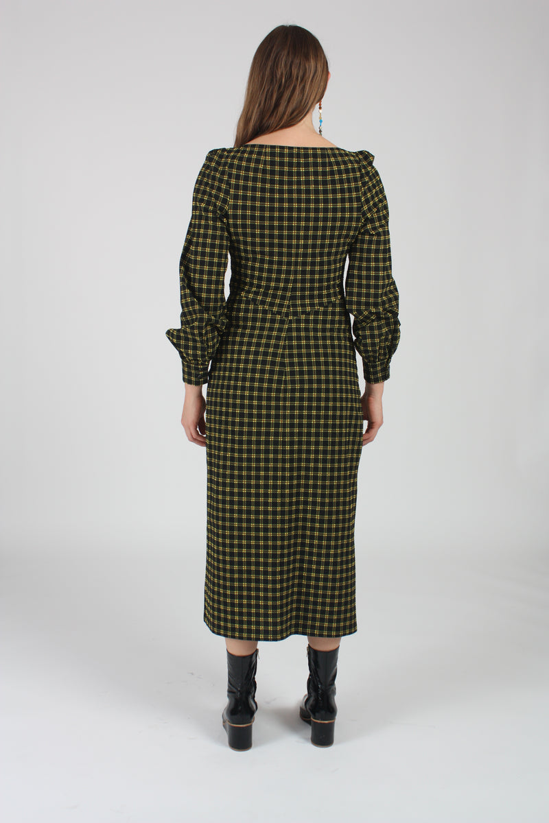 Proposition Dress Stretchy Black Plaid