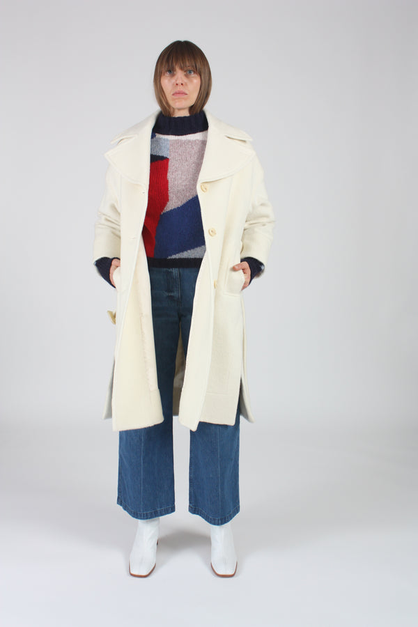 Boldizsar Coat White