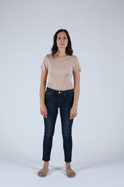Rebirth High Waisted Skinny Jean Dark Blue