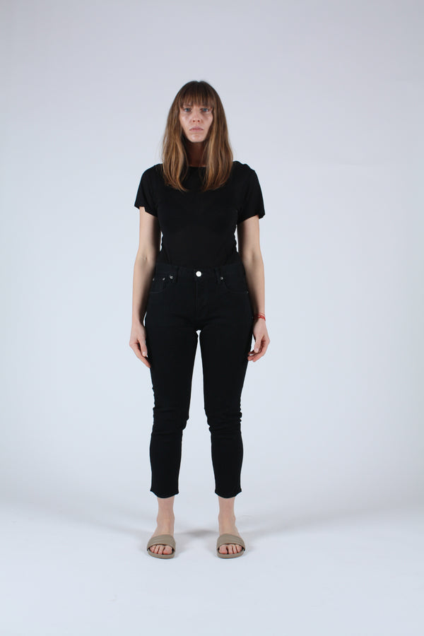 Rebirth High Waisted Skinny Jean Black