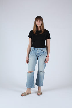 Genoa Cropped Straight Jean
