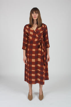 Wrapped Dress Painted Check
