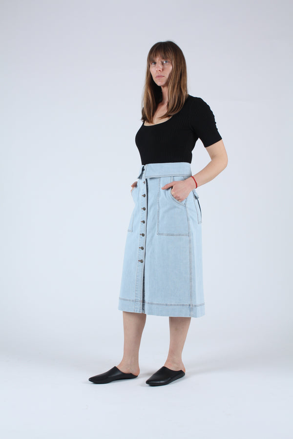 Andi Skirt Light Wash