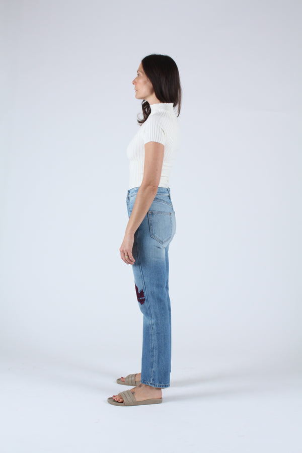 Song of the West Denim Bordeaux Medium Wash