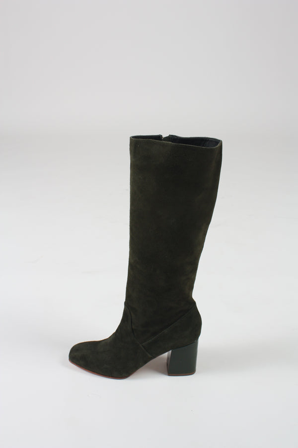 Sloan Knee High Boot in Pine/Bottle